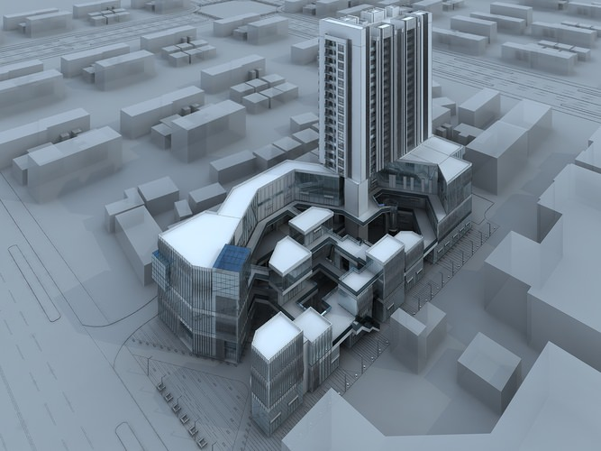 Business center3D model