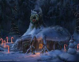 Christmas snow house Sc 3D