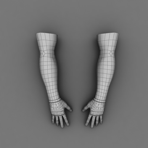 Male Arms Textured 6