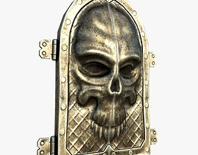 3D asset Gate with a skull ornament