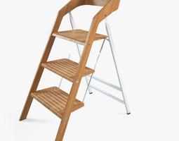 vintage usit stepladder chair 3-step version 3d model