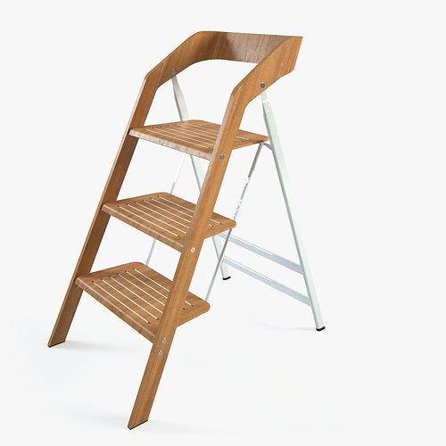 vintage usit stepladder chair 3-step version 3d model max 1