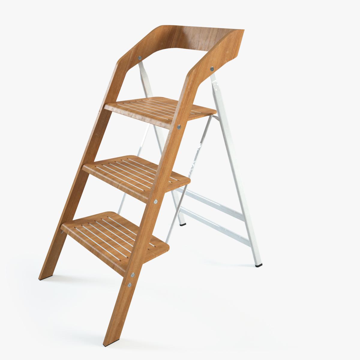 Vintage Usit Stepladder Chair 3 Step Version 3d Model Max 1