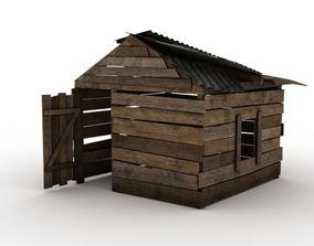 3D asset Abandoned Shelter