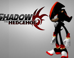 shadow the hedgehog 3d asset 3d printable model VR / AR ready