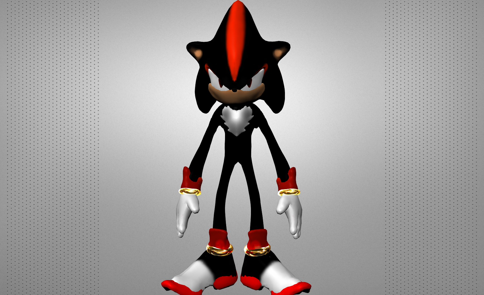 Shadow The Hedgehog 3d Model Game Ready Obj Cgtrader Com
