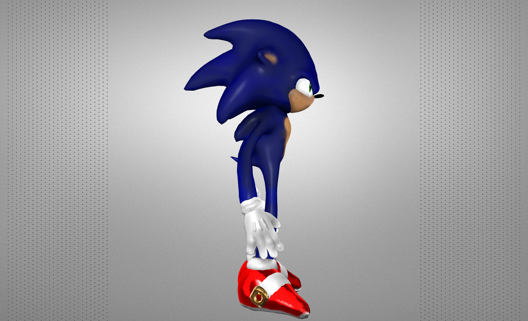 Sonic The Hedgehog 3d Model 3d Printable Obj Cgtrader Com