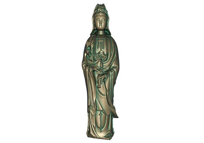 goddess of mercy 3d model max obj mtl stl 1
