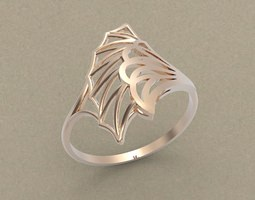 3D printable model character Ring