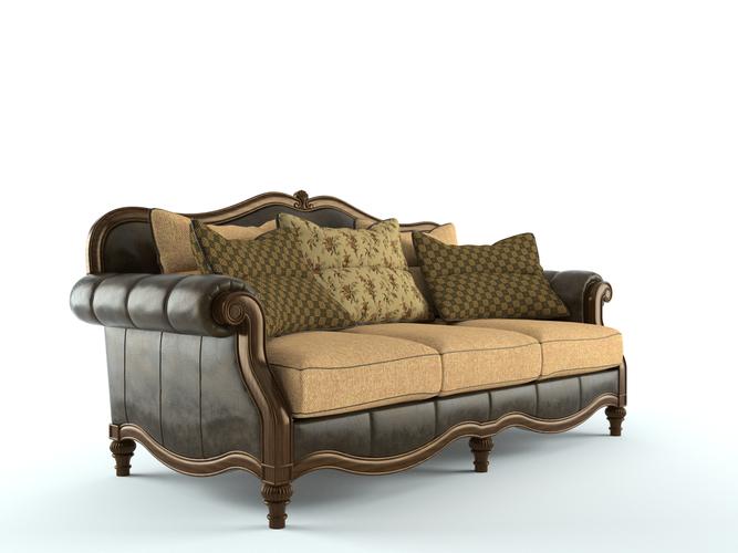 Ashley Claremore Antique Sofa 3d Model Skp Cgtrader Com
