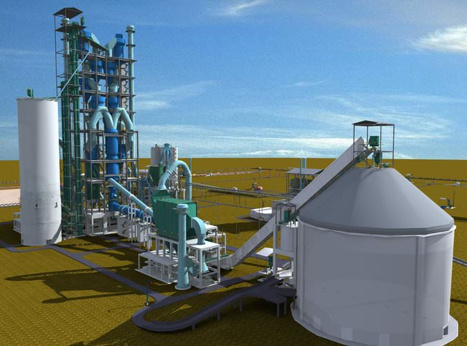 Huge Cement Plant : Cement plant free d model dwg cgtrader