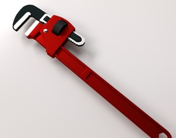 Adjustable Pipe Wrench 3D Model