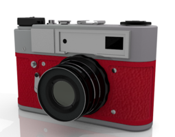 Russian Camera fullxfull Lexv Vintage Red SINGLE MODEL 3D Model