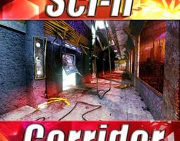 Sci-fi Corridor 3D Model