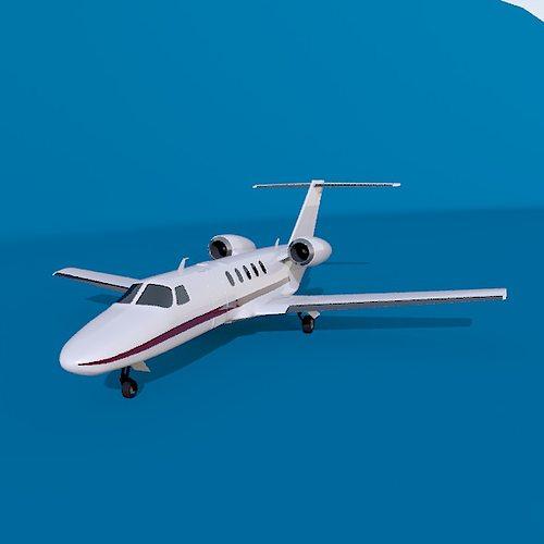 Cessna Citation Cj4 Private Jet 3d Model 3ds Fbx Lwo Lw Lws Stl Blend Mtl