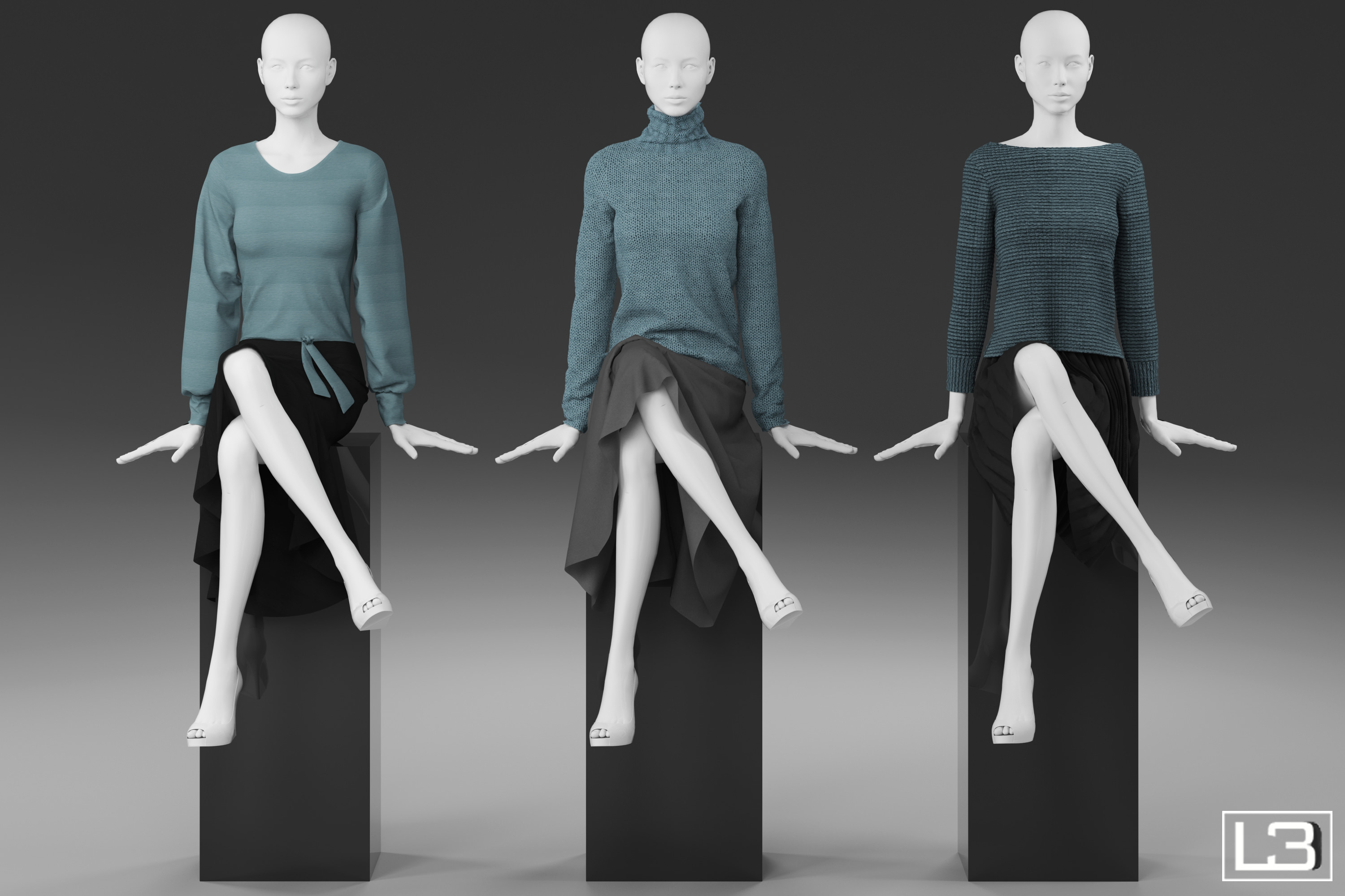 Shop Window Woman Mannequin 009 3d Models Cgtrader Com
