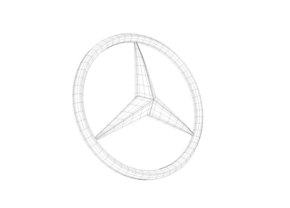 mercedes logo 3d model 3d model  max  obj  fbx  c4d  hrc