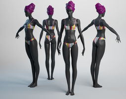 3D model Female Basemesh 05