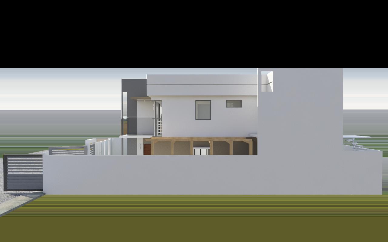 2 storey modern minimalist minimalist house model no 2 3d for Minimalist no house