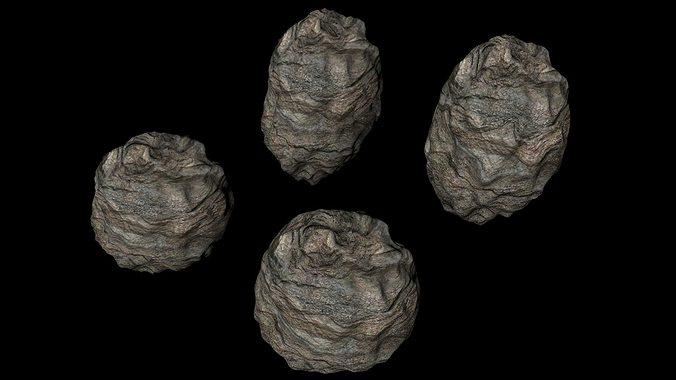 asteroids 3d model obj mtl 3ds fbx c4d dxf dae 1