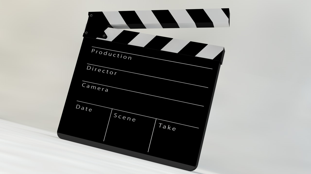 Film Slate Clapper 3D Model rigged .obj .3ds .fbx .c4d ...