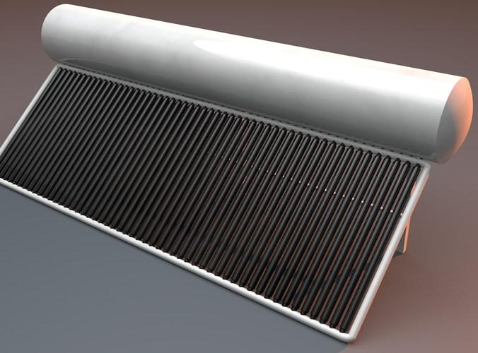 Solar Water Heater 3d Model Obj 3ds Fbx C4d Dxf Dae
