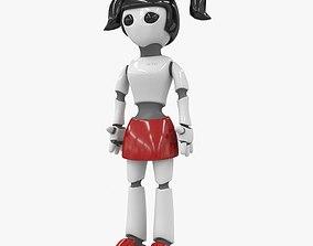 3D asset Robot Girl