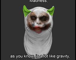 Joker Cat 3D Model