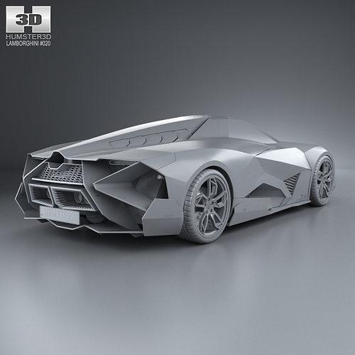 Lamborghini Egoista Inside: Lamborghini Egoista 2013 3D Model MAX OBJ 3DS FBX C4D LWO