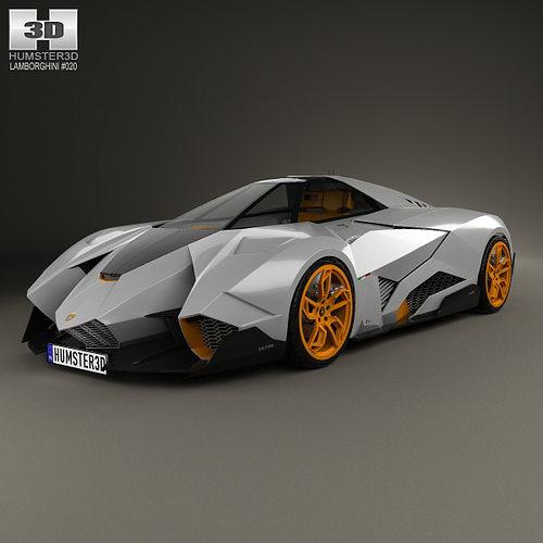 Lamborghini Egoista Inside: Lamborghini Egoista 2013 3D
