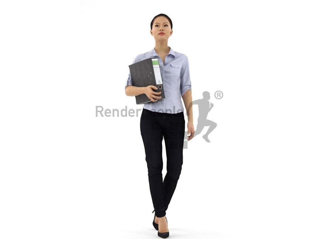 Mei 001 Woman office clothes holding folder
