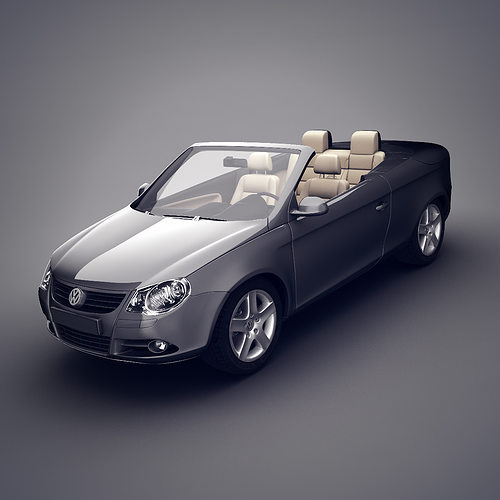 3d volkswagen eos convertible cgtrader. Black Bedroom Furniture Sets. Home Design Ideas