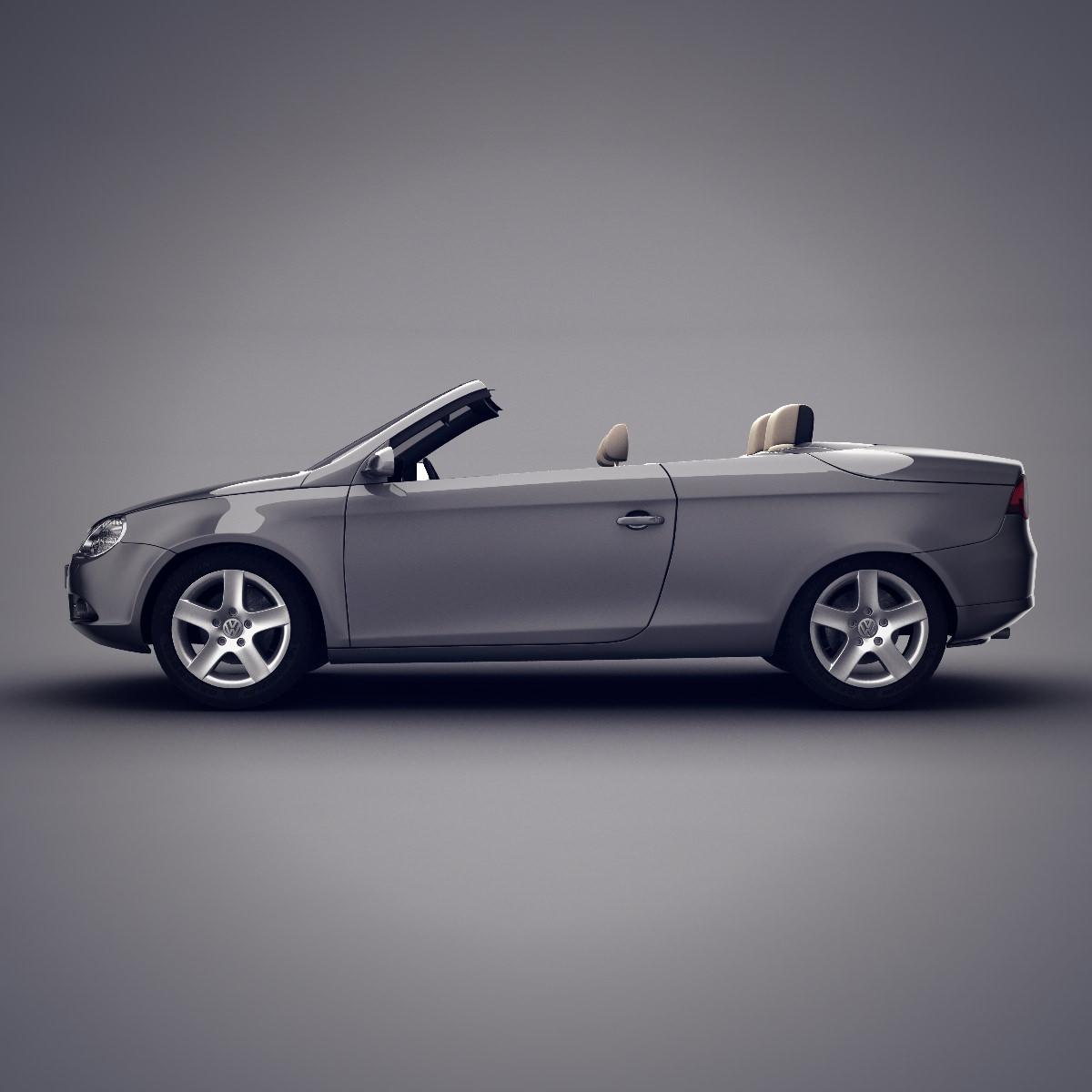 Eos Volkswagen Used: Volkswagen Eos Convertible 3D Model .max .obj .fbx .lwo