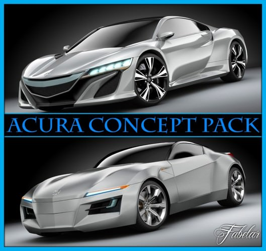 3D Acura Concept Pack
