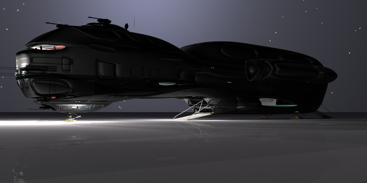 Federation Cargo Ship 3D Model obj CGTradercom