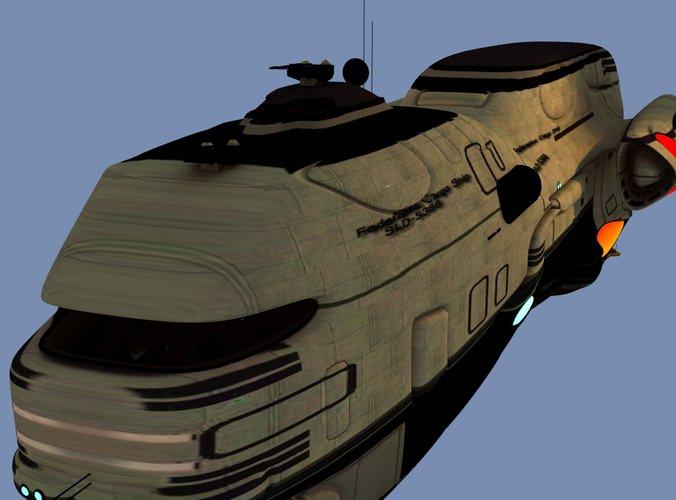 Federation Cargo Ship 3d Model Obj Cgtrader Com