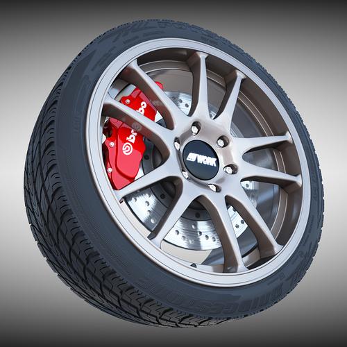 Work Crag ST5 Wheel3D model