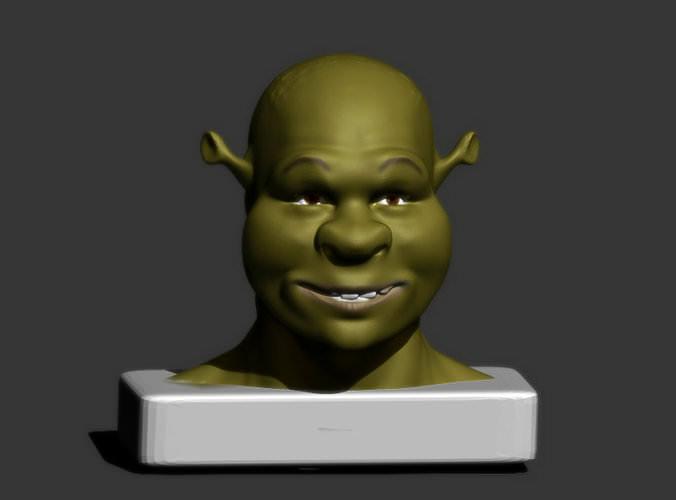 Shrek or Ninja Turtle 3D Model 3D printable .obj .stl - CGTrader.com Turtle 3d Printing