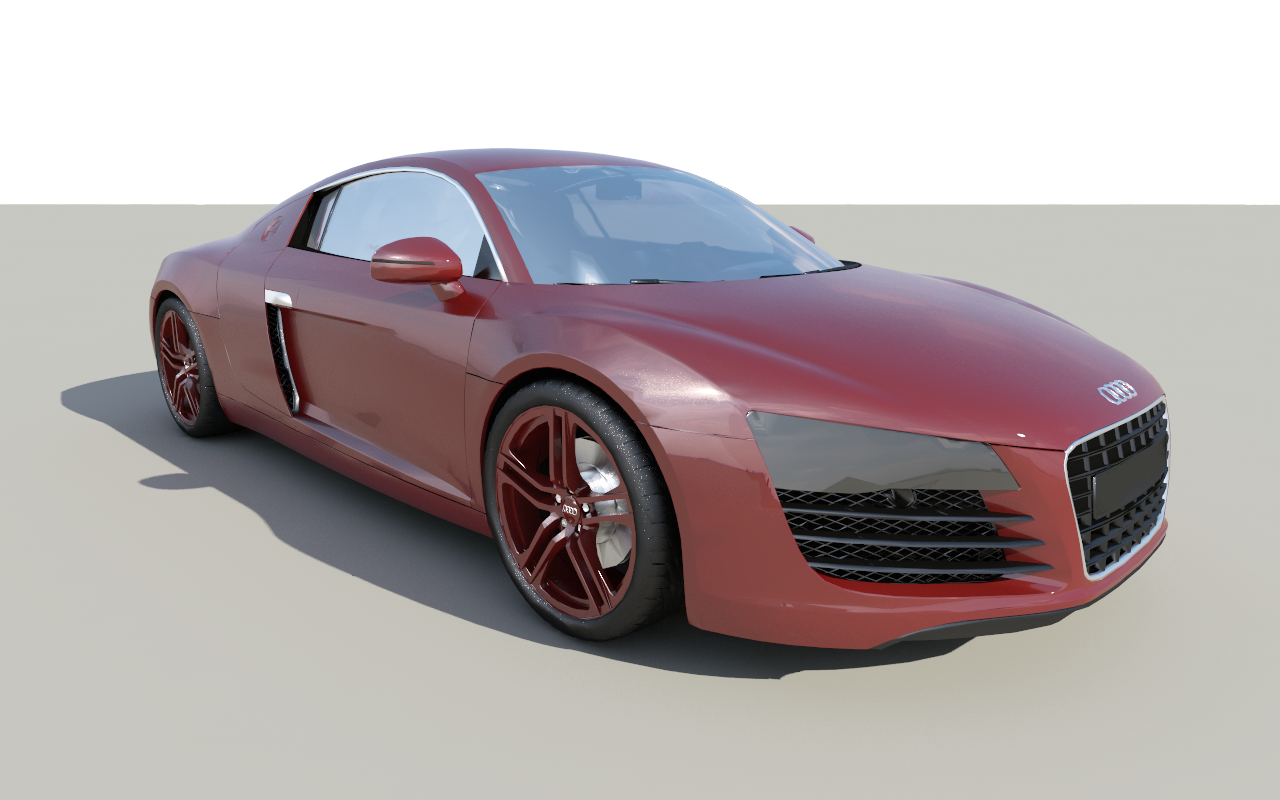 audi r8 free 3d model game ready fbx dae dwg skp mtl. Black Bedroom Furniture Sets. Home Design Ideas