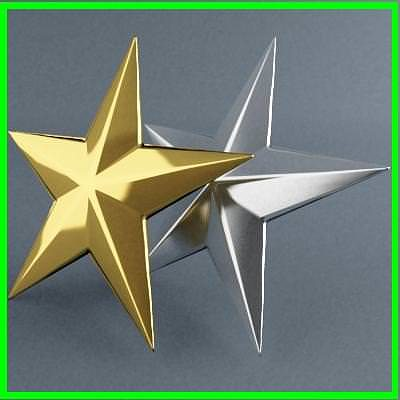 star  3d 3d model max obj mtl 3ds fbx dxf dwg 1