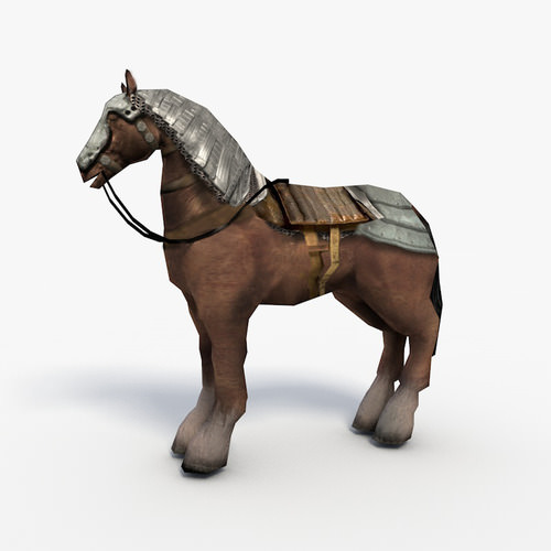 Low Poly Armored Horse3D model