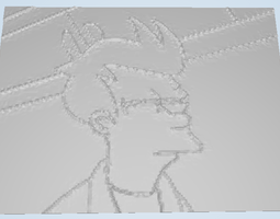 Futurama Fry Lithophane 3D Model