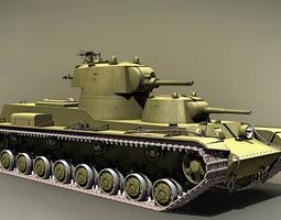 3D model Soviet heavy tank SMK USSR 1939