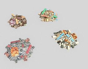 3D model 4 debris piles pack 1