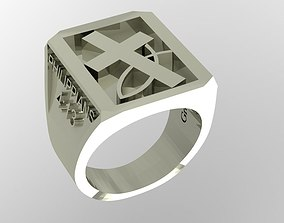 3D printable model Gents Religious Ring