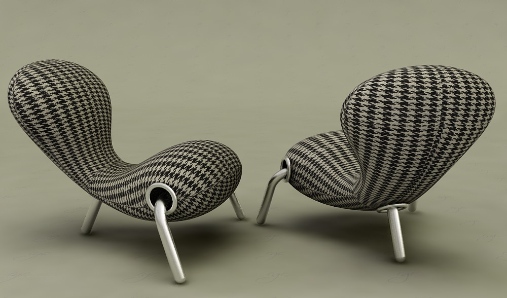 Cappellini embryo chair signature 3d model max for Embryo chair