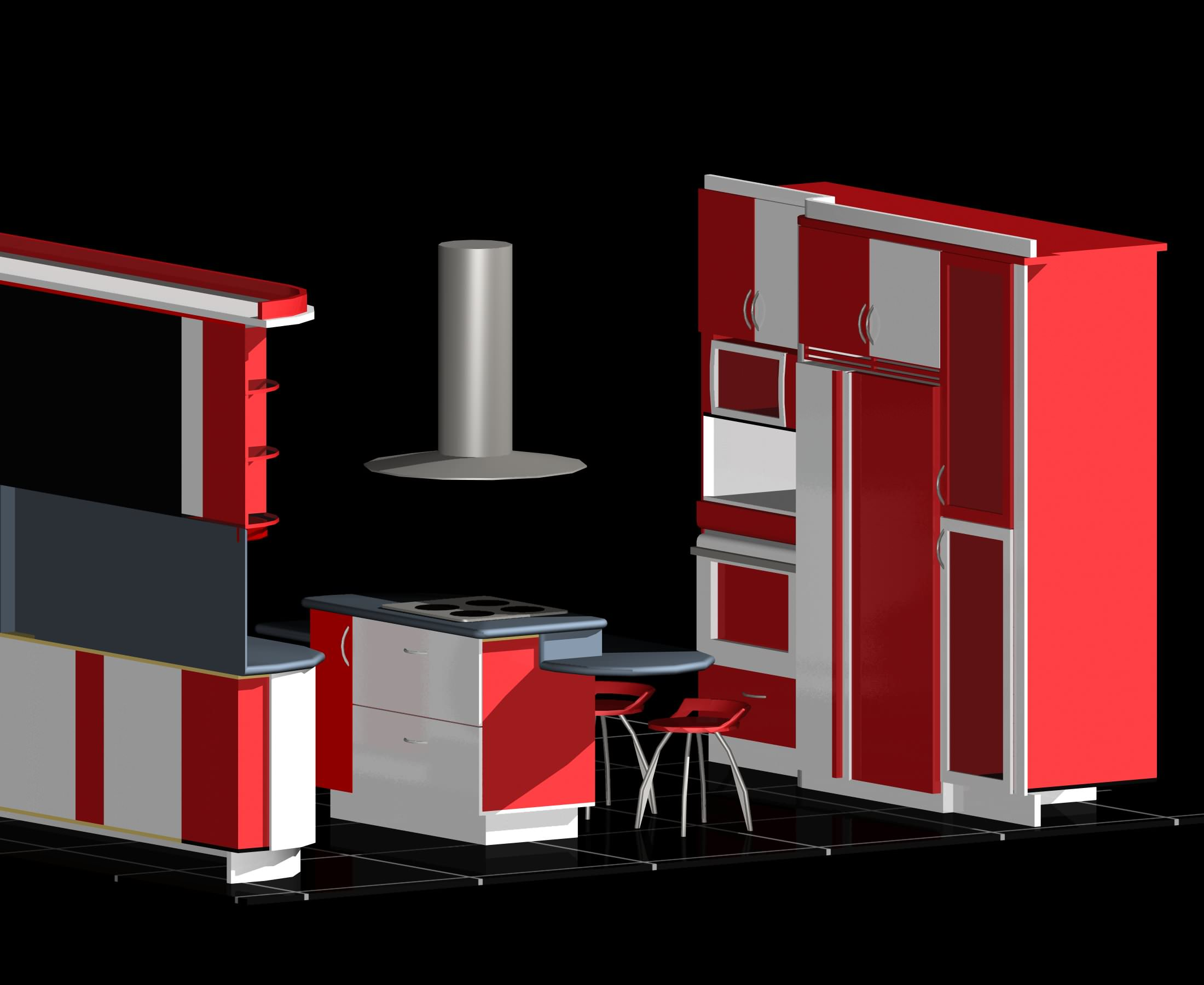 Modular kitchen auto cad 3d free 3d model dwg for Interior design cad free