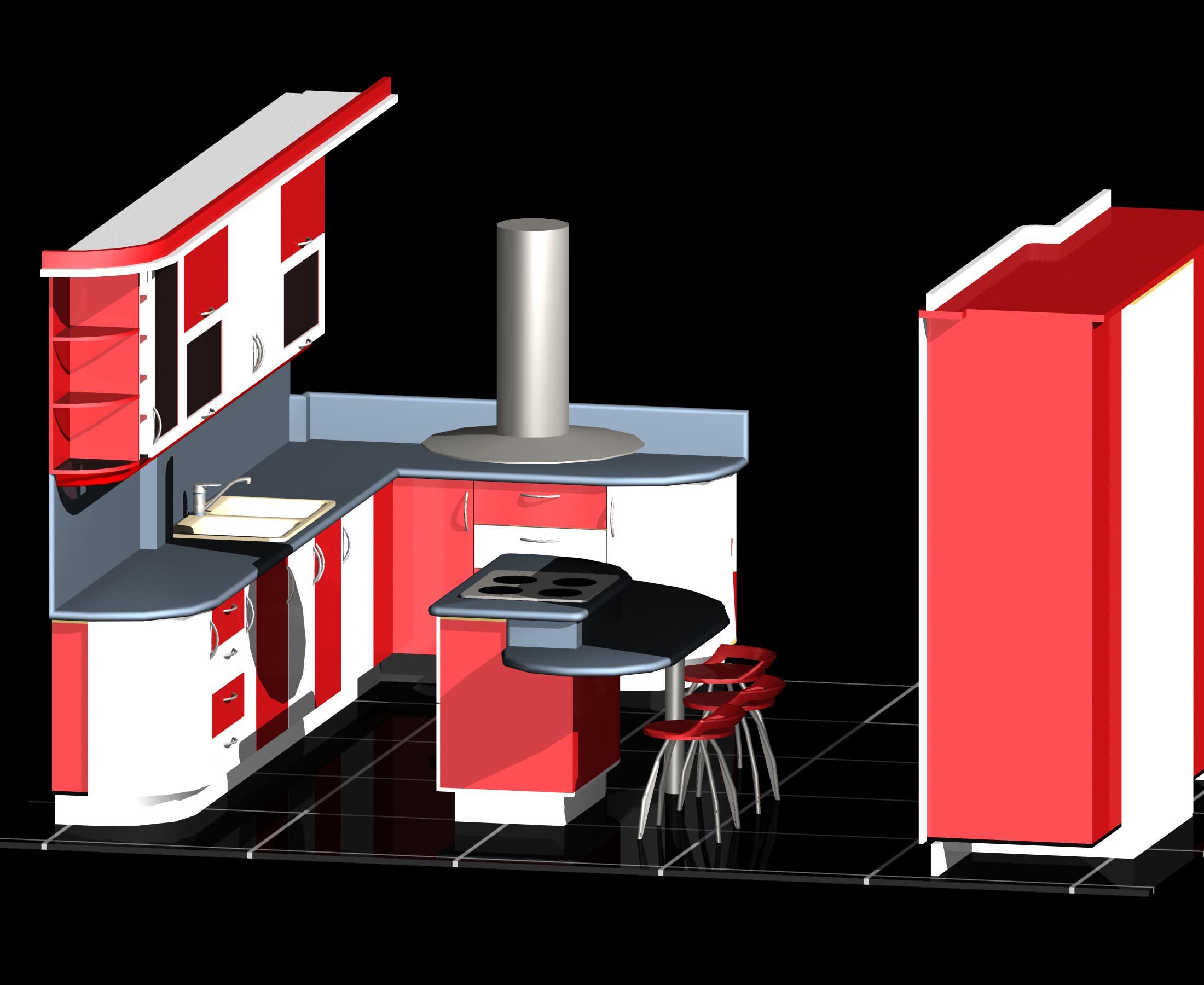 Modular Kitchen Auto Cad 3d Free 3d Model Dwg