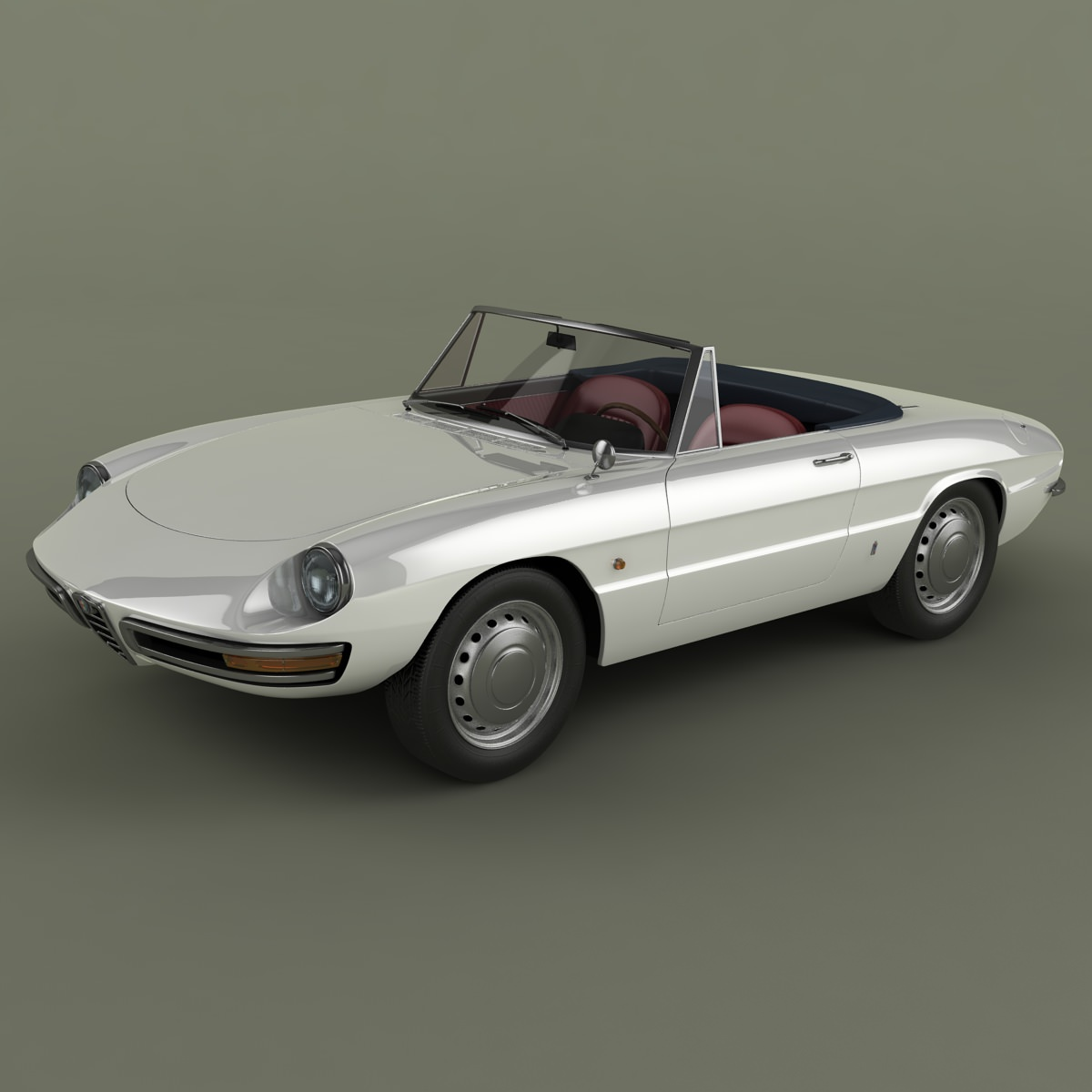 Alfa Romeo Duetto Spider 3d Model Series 1 Max Obj Mtl 3ds