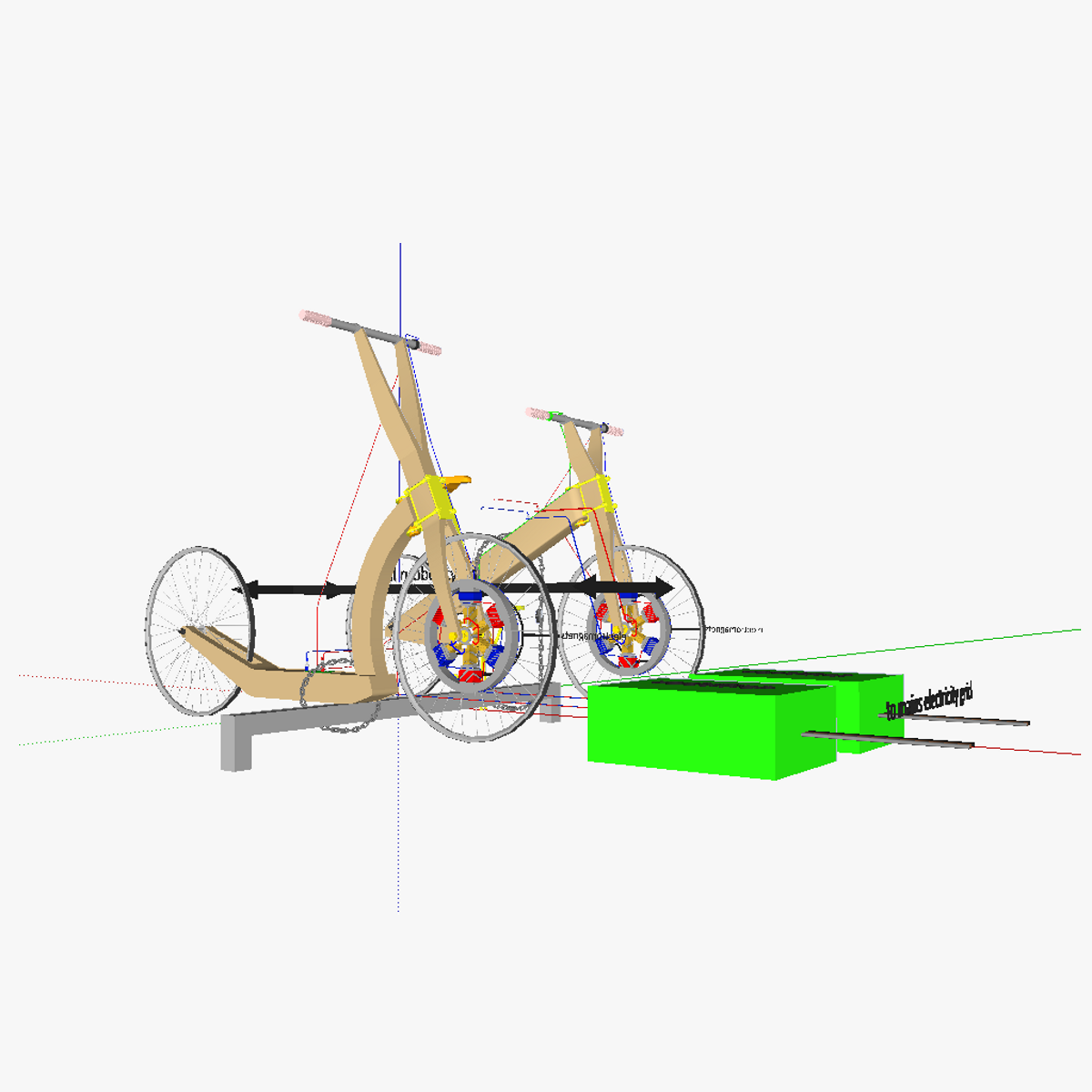Human powered vehicles for bicycle sharing systems